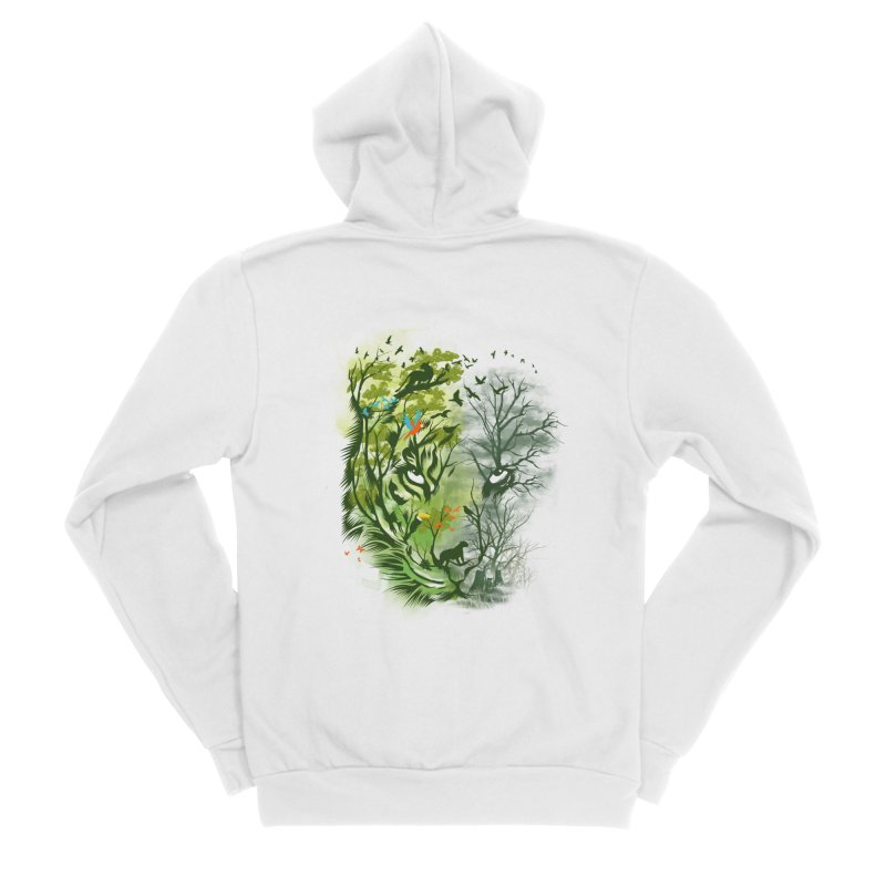 Save the Forest Men's Sponge Fleece Zip-Up Hoody by dandingeroz's Artist Shop