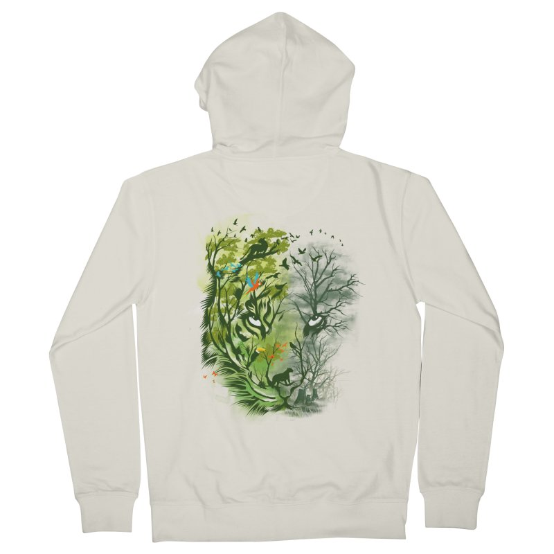Save the Forest Men's French Terry Zip-Up Hoody by dandingeroz's Artist Shop