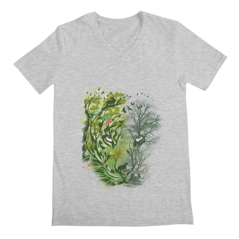 Save the Forest Men's Regular V-Neck by dandingeroz's Artist Shop