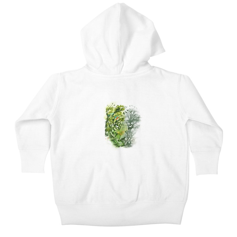 Save the Forest Kids Baby Zip-Up Hoody by dandingeroz's Artist Shop