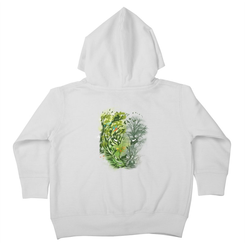 Save the Forest Kids Toddler Zip-Up Hoody by dandingeroz's Artist Shop