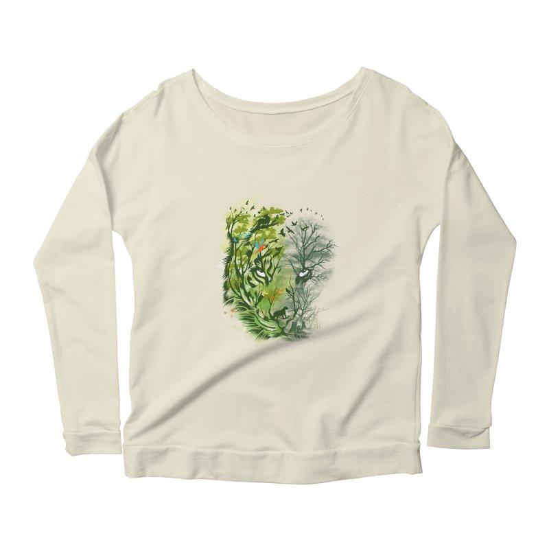 Save the Forest Women's Scoop Neck Longsleeve T-Shirt by dandingeroz's Artist Shop