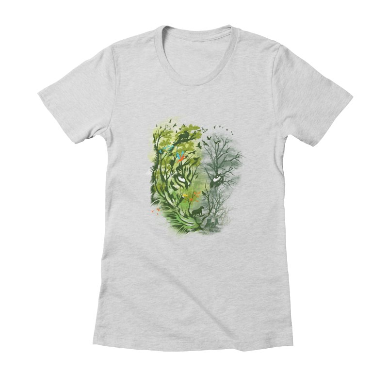 Save the Forest Women's Fitted T-Shirt by dandingeroz's Artist Shop