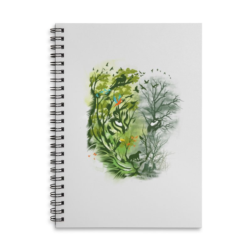Save the Forest Accessories Lined Spiral Notebook by dandingeroz's Artist Shop