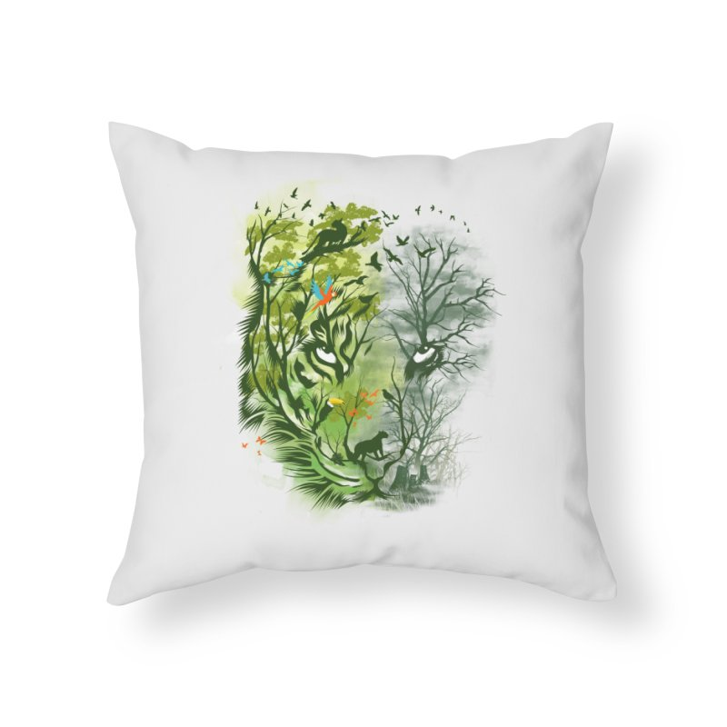 Save the Forest Home Throw Pillow by dandingeroz's Artist Shop