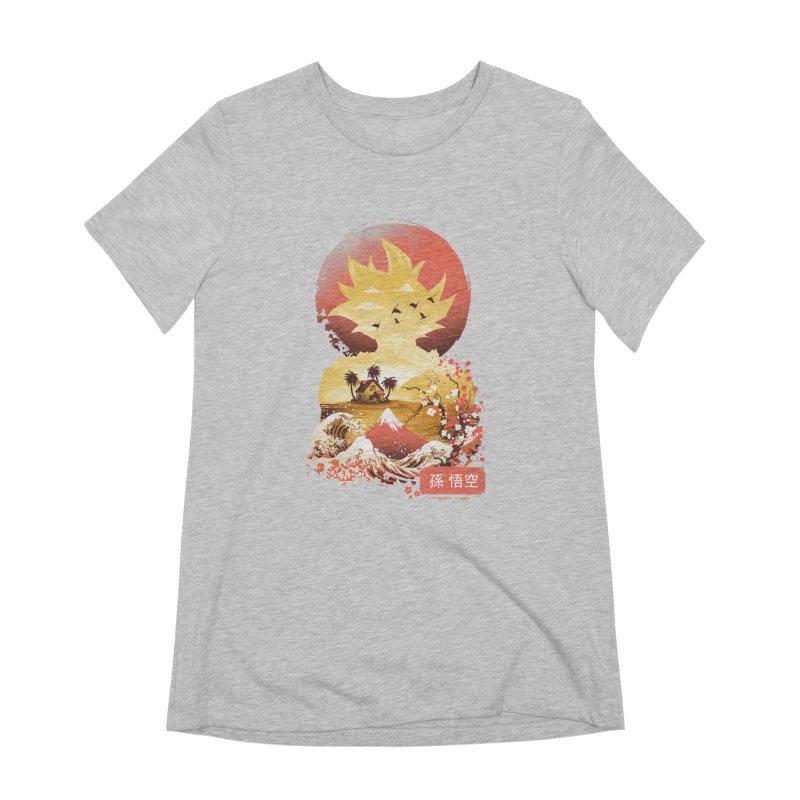 Ukiyo e Super Saiyan Women's Extra Soft T-Shirt by dandingeroz's Artist Shop
