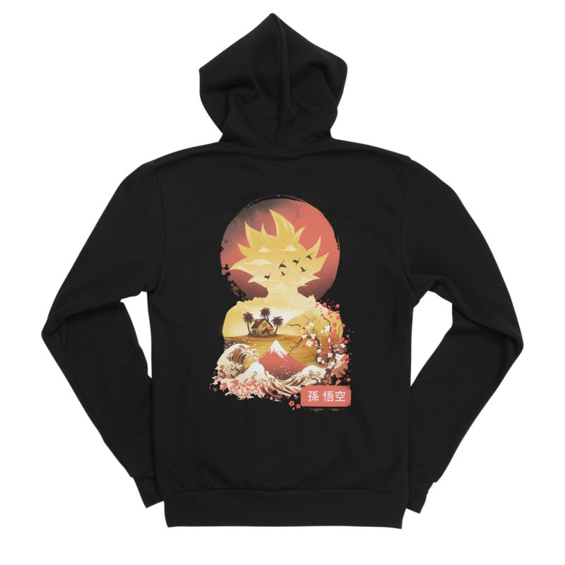 Ukiyo e Super Saiyan Women's Sponge Fleece Zip-Up Hoody by dandingeroz's Artist Shop