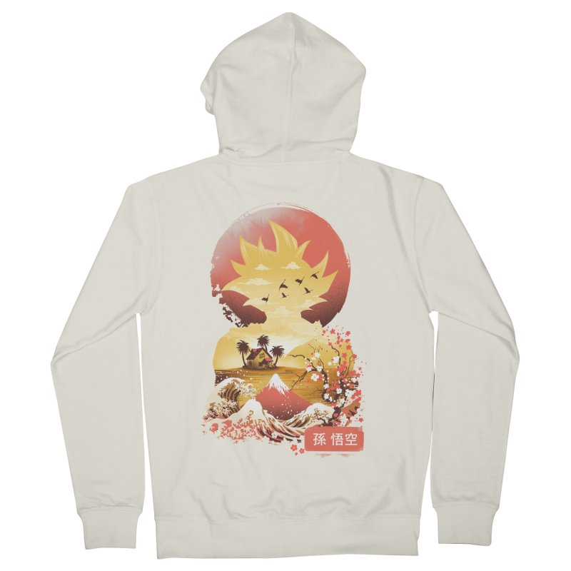 Ukiyo e Super Saiyan Women's French Terry Zip-Up Hoody by dandingeroz's Artist Shop