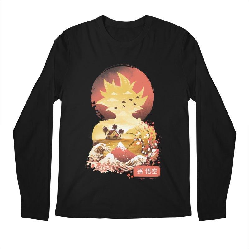 Ukiyo e Super Saiyan Men's Regular Longsleeve T-Shirt by dandingeroz's Artist Shop