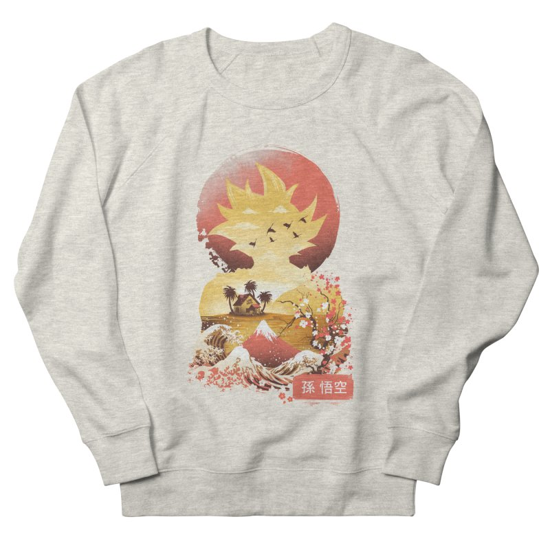 Ukiyo e Super Saiyan Women's French Terry Sweatshirt by dandingeroz's Artist Shop
