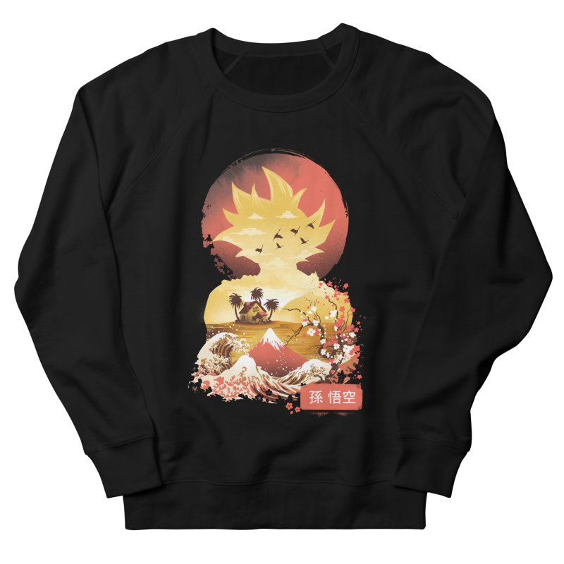 Ukiyo e Super Saiyan Men's French Terry Sweatshirt by dandingeroz's Artist Shop