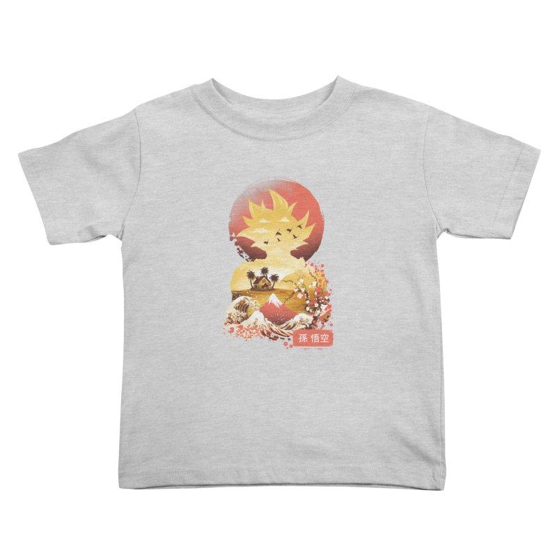 Ukiyo e Super Saiyan Kids Toddler T-Shirt by dandingeroz's Artist Shop