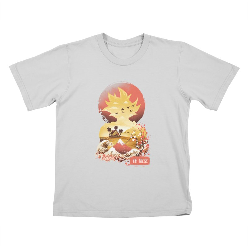 Ukiyo e Super Saiyan Kids T-Shirt by dandingeroz's Artist Shop