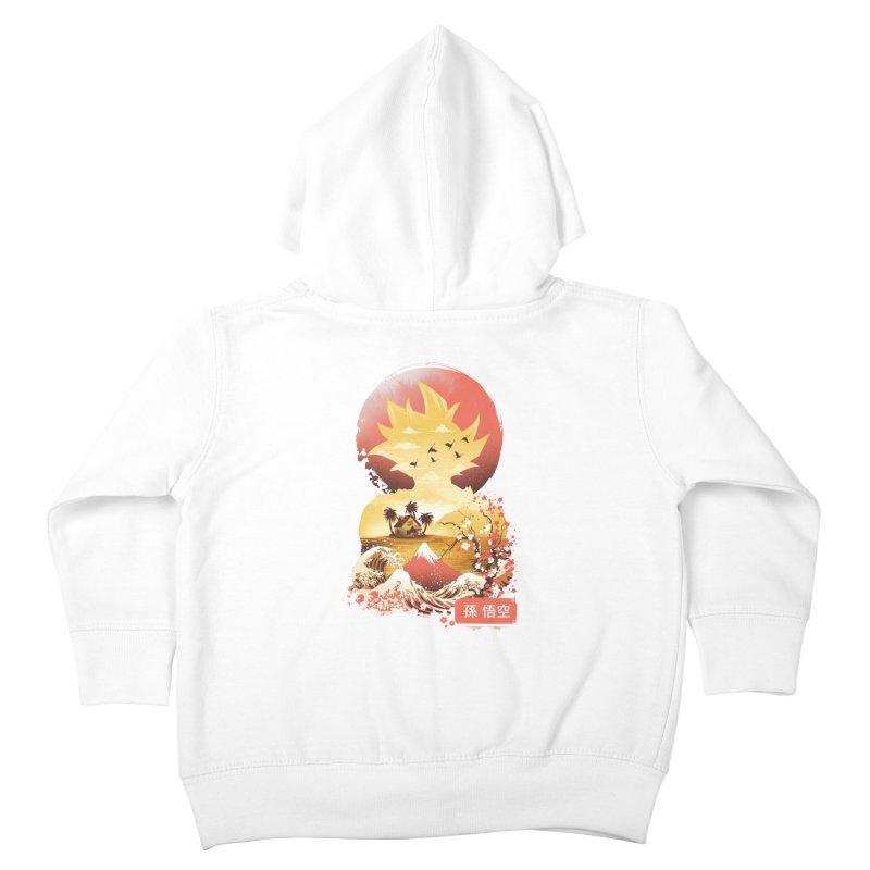 Ukiyo e Super Saiyan Kids Toddler Zip-Up Hoody by dandingeroz's Artist Shop