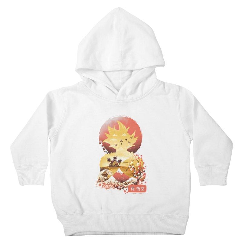 Ukiyo e Super Saiyan Kids Toddler Pullover Hoody by dandingeroz's Artist Shop