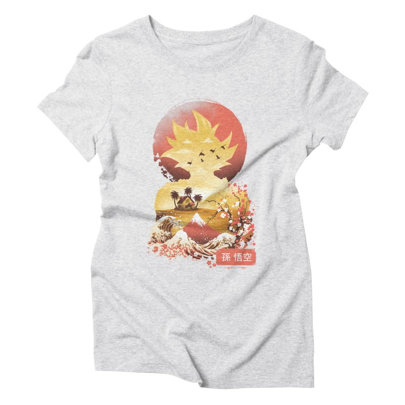 Ukiyo e Super Saiyan Women's Triblend T-Shirt by dandingeroz's Artist Shop