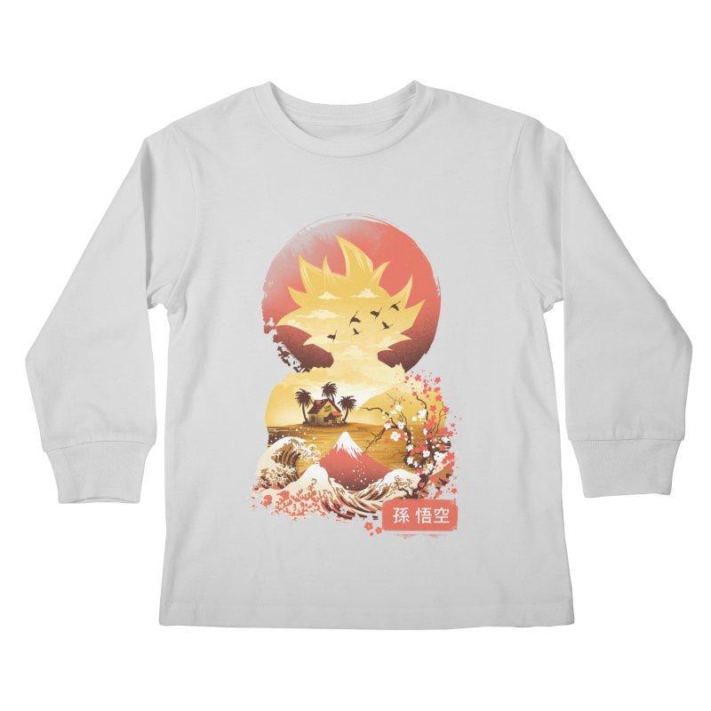 Ukiyo e Super Saiyan Kids Longsleeve T-Shirt by dandingeroz's Artist Shop