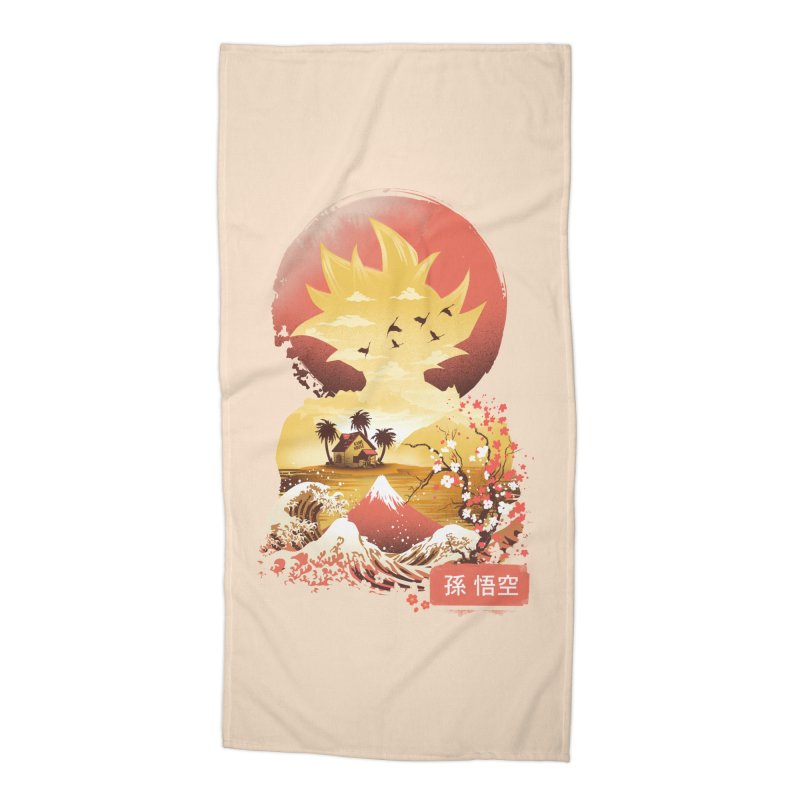 Ukiyo e Super Saiyan Accessories Beach Towel by dandingeroz's Artist Shop