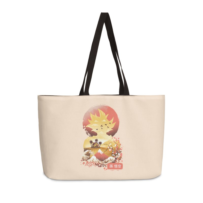 Ukiyo e Super Saiyan Accessories Weekender Bag Bag by dandingeroz's Artist Shop