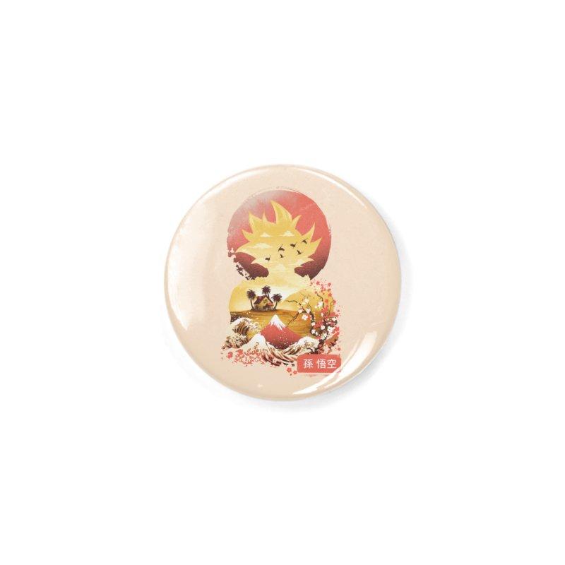 Ukiyo e Super Saiyan Accessories Button by dandingeroz's Artist Shop