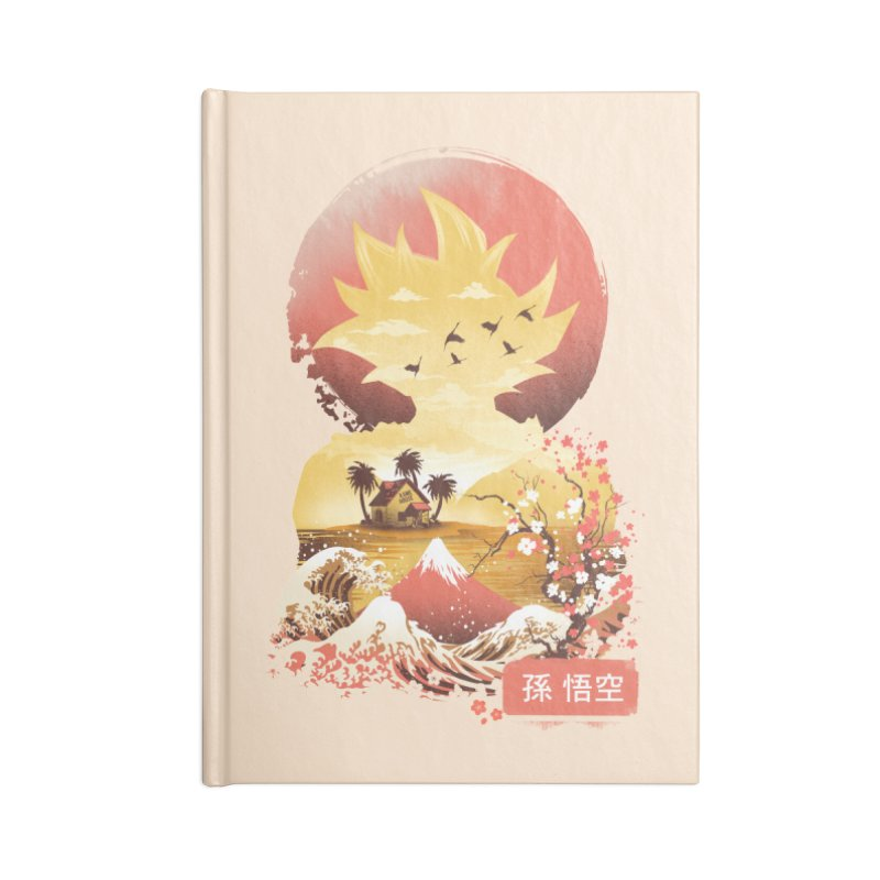 Ukiyo e Super Saiyan Accessories Blank Journal Notebook by dandingeroz's Artist Shop
