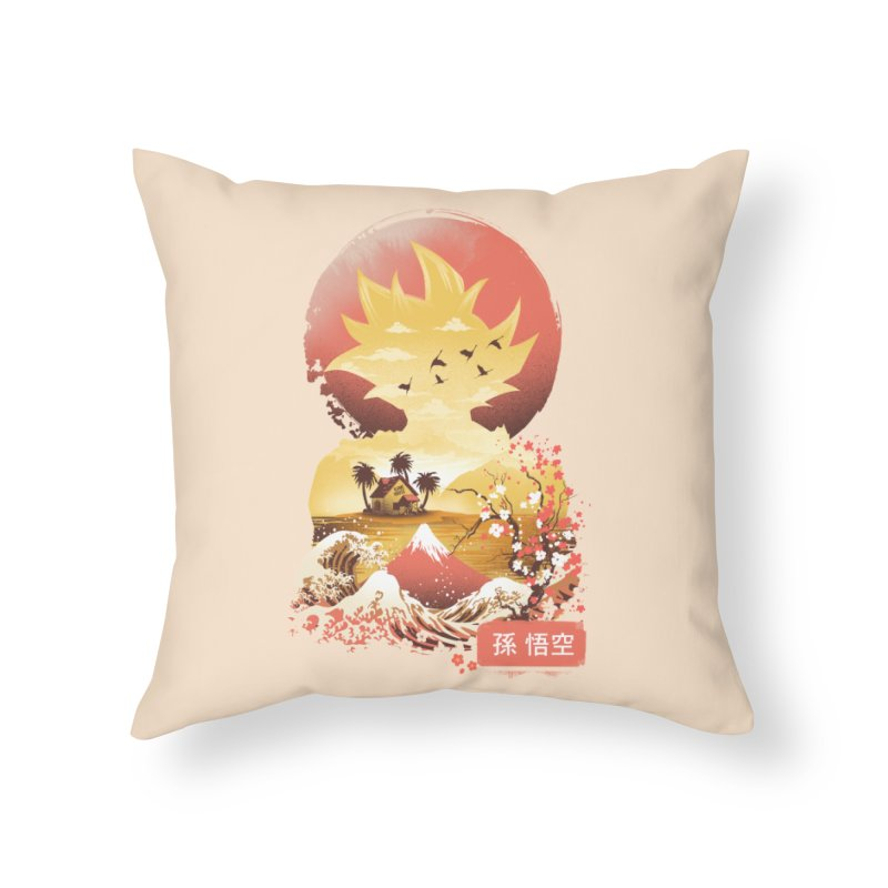 Ukiyo e Super Saiyan Home Throw Pillow by dandingeroz's Artist Shop