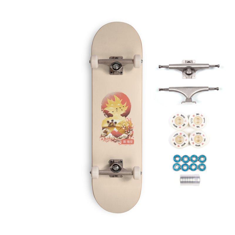 Ukiyo e Super Saiyan Accessories Complete - Premium Skateboard by dandingeroz's Artist Shop