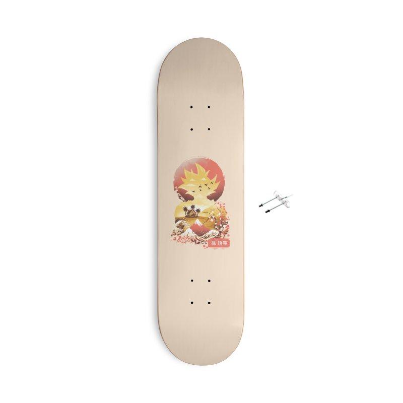 Ukiyo e Super Saiyan Accessories With Hanging Hardware Skateboard by dandingeroz's Artist Shop
