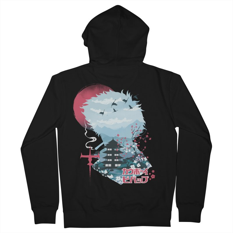 Ukiyo e Space Cowboy Women's French Terry Zip-Up Hoody by dandingeroz's Artist Shop