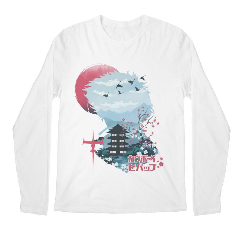 Ukiyo e Space Cowboy Men's Regular Longsleeve T-Shirt by dandingeroz's Artist Shop