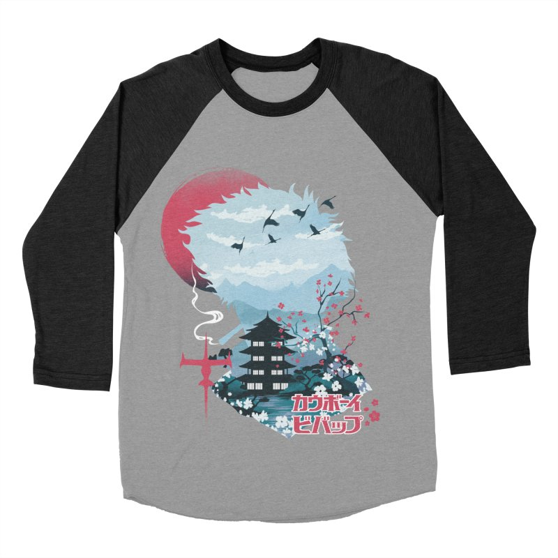 Ukiyo e Space Cowboy Women's Baseball Triblend Longsleeve T-Shirt by dandingeroz's Artist Shop