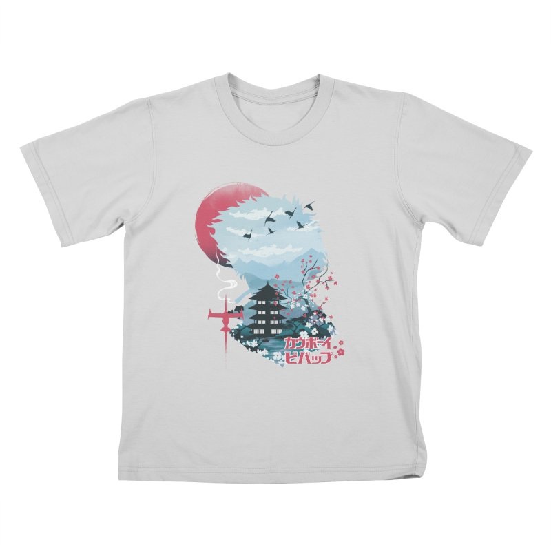 Ukiyo e Space Cowboy Kids T-Shirt by dandingeroz's Artist Shop