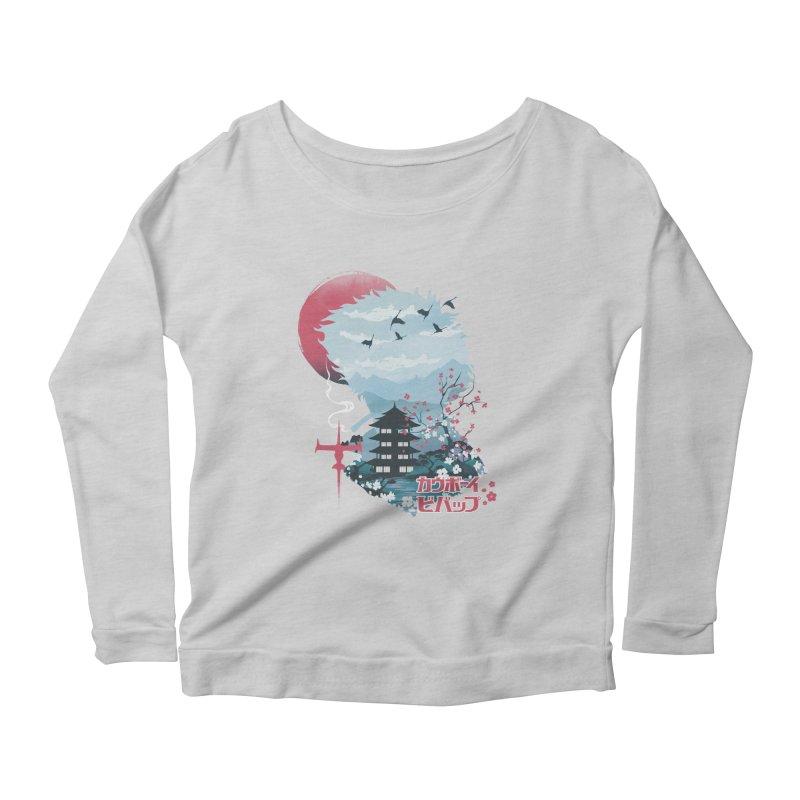 Ukiyo e Space Cowboy Women's Scoop Neck Longsleeve T-Shirt by dandingeroz's Artist Shop
