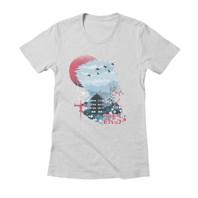Ukiyo e Space Cowboy Women's Fitted T-Shirt by dandingeroz's Artist Shop