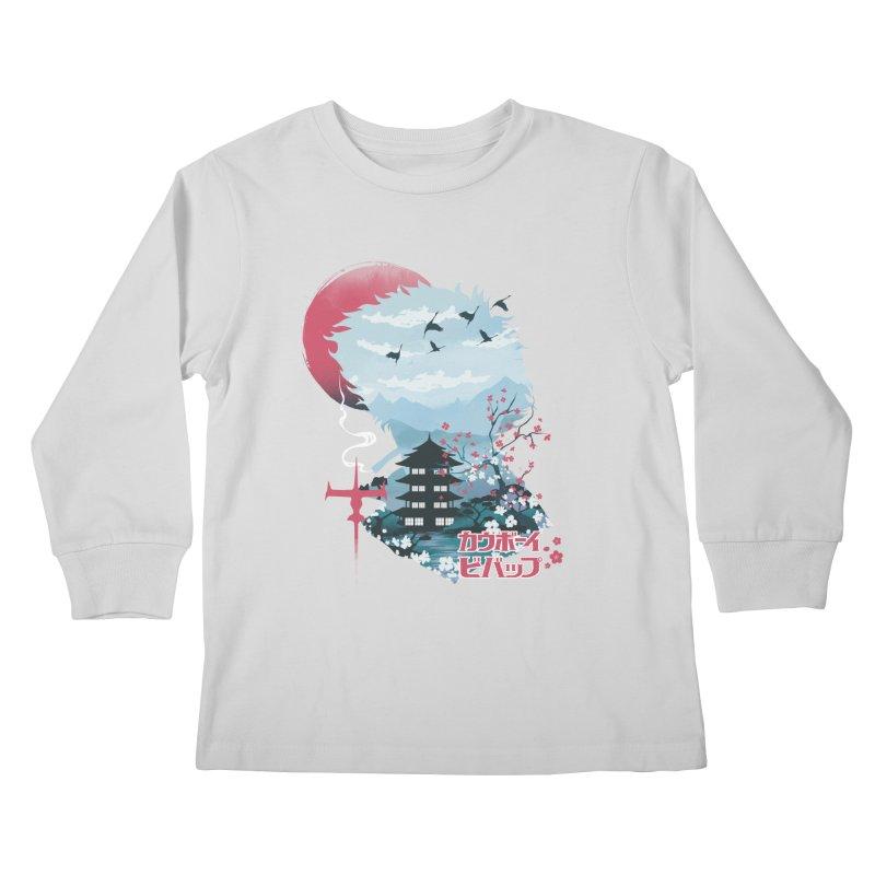 Ukiyo e Space Cowboy Kids Longsleeve T-Shirt by dandingeroz's Artist Shop