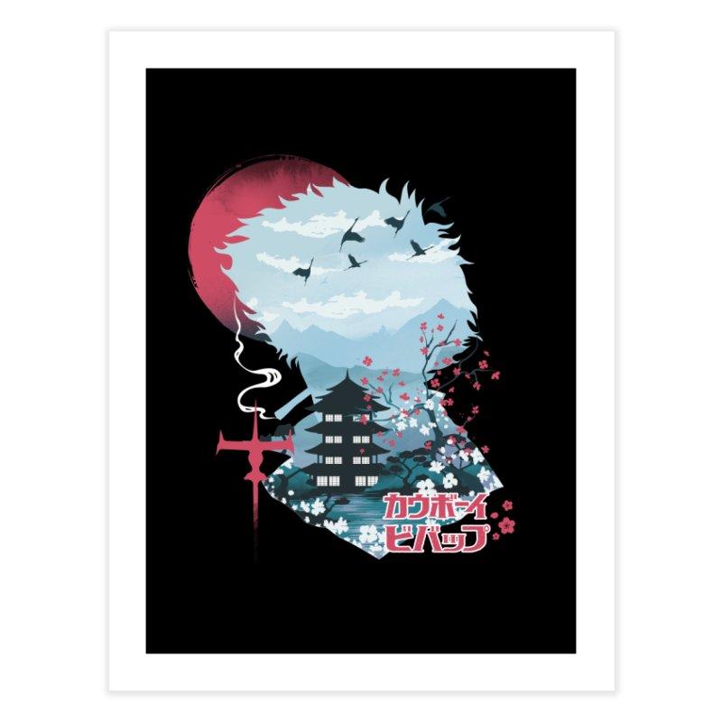 Ukiyo e Space Cowboy Home Fine Art Print by dandingeroz's Artist Shop