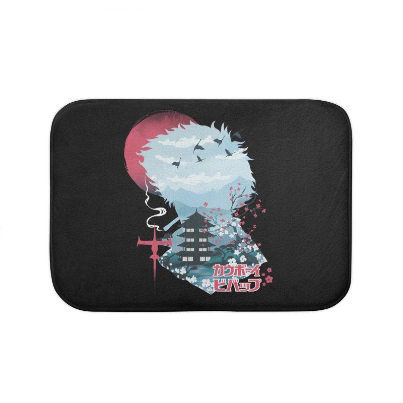 Ukiyo e Space Cowboy Home Bath Mat by dandingeroz's Artist Shop
