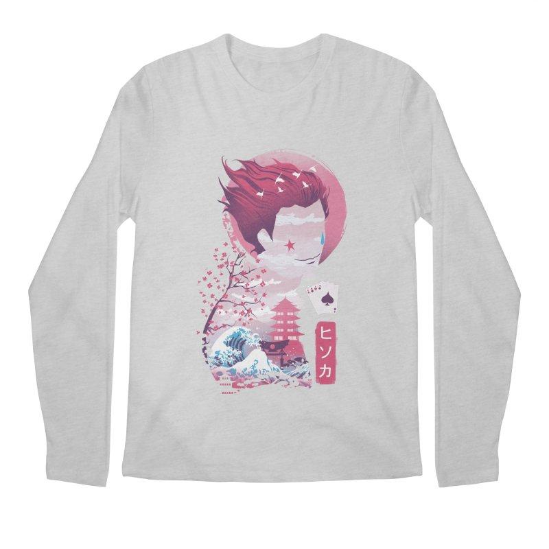 Ukiyo e Hunter Men's Regular Longsleeve T-Shirt by dandingeroz's Artist Shop