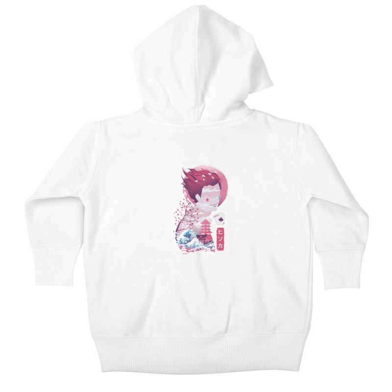 Ukiyo e Hunter Kids Baby Zip-Up Hoody by dandingeroz's Artist Shop