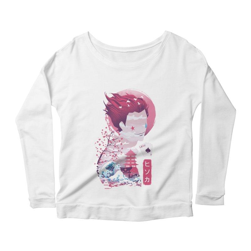 Ukiyo e Hunter Women's Scoop Neck Longsleeve T-Shirt by dandingeroz's Artist Shop