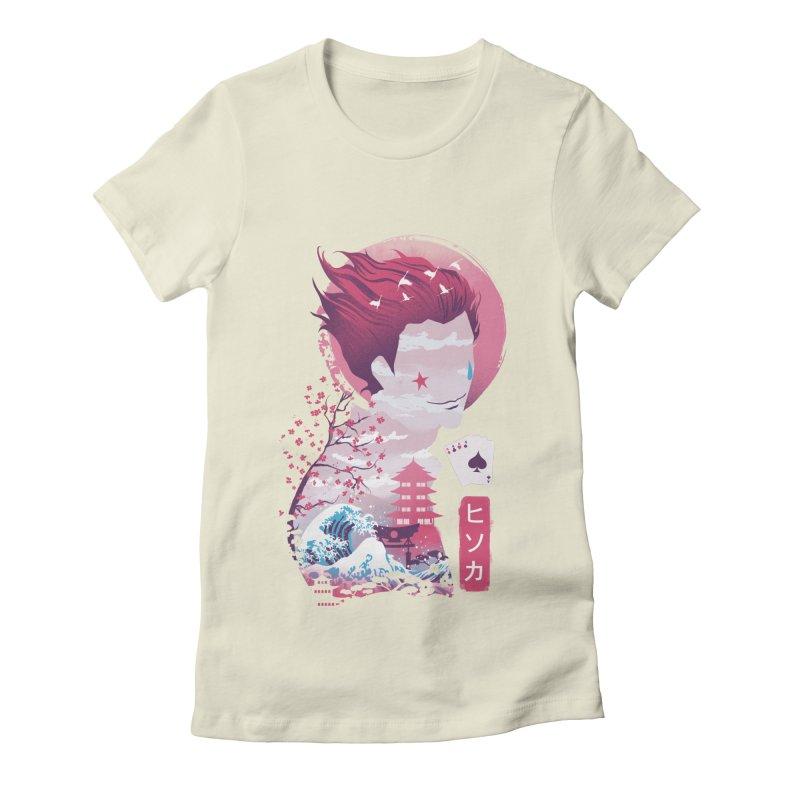 Ukiyo e Hunter Women's Fitted T-Shirt by dandingeroz's Artist Shop