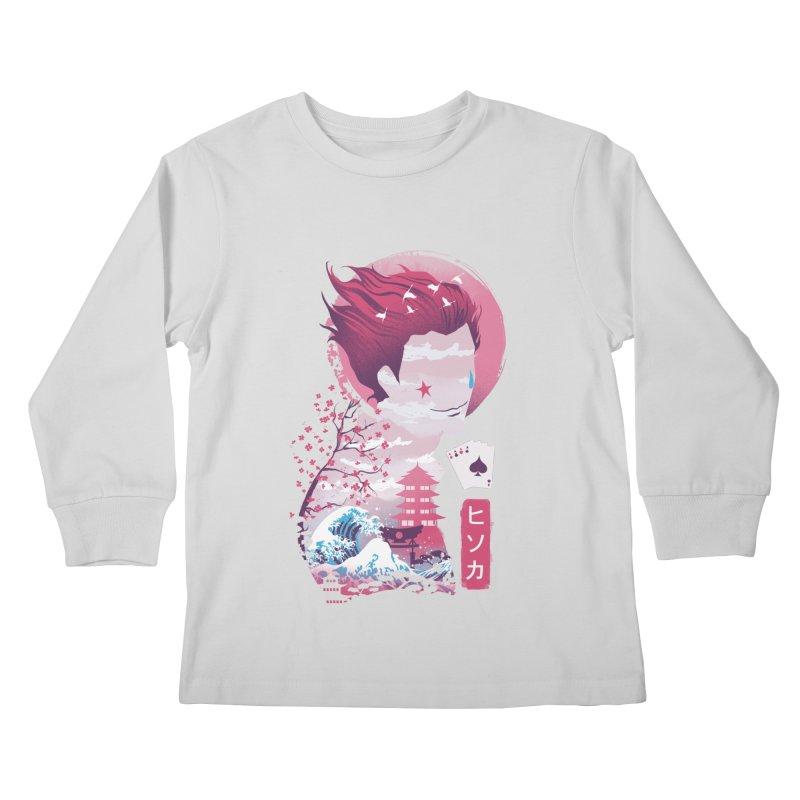 Ukiyo e Hunter Kids Longsleeve T-Shirt by dandingeroz's Artist Shop