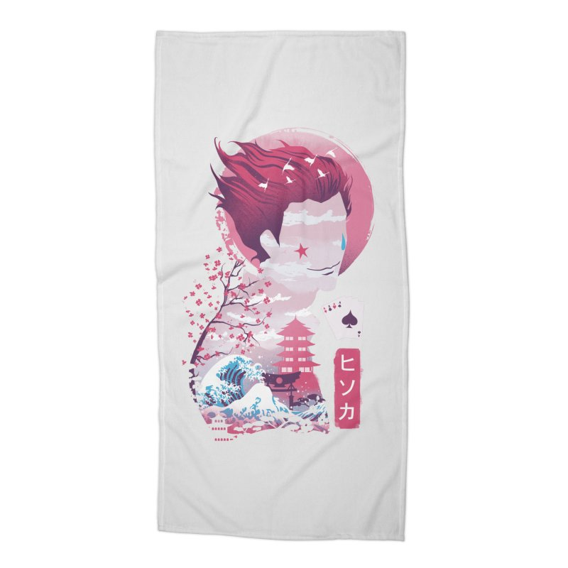 Ukiyo e Hunter Accessories Beach Towel by dandingeroz's Artist Shop