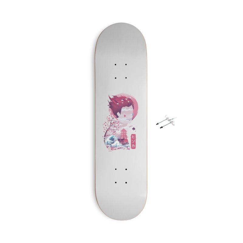 Ukiyo e Hunter Accessories With Hanging Hardware Skateboard by dandingeroz's Artist Shop