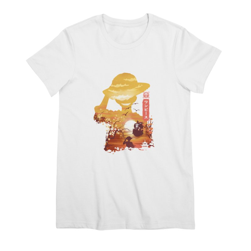 Ukiyo e King of the Pirates Women's Premium T-Shirt by dandingeroz's Artist Shop