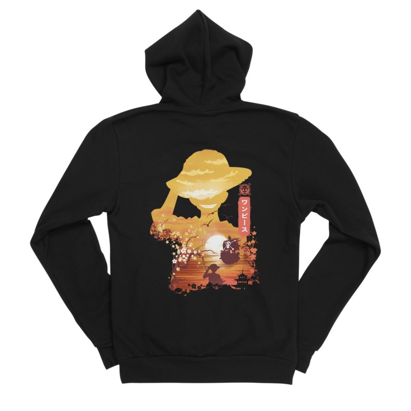 Ukiyo e King of the Pirates Women's Sponge Fleece Zip-Up Hoody by dandingeroz's Artist Shop
