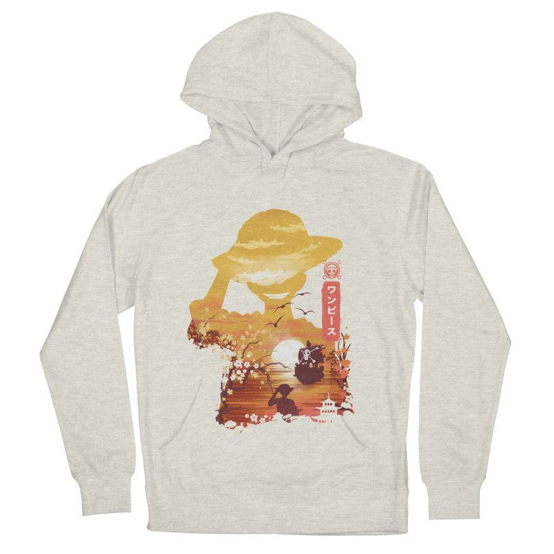 Ukiyo e King of the Pirates Men's French Terry Pullover Hoody by dandingeroz's Artist Shop