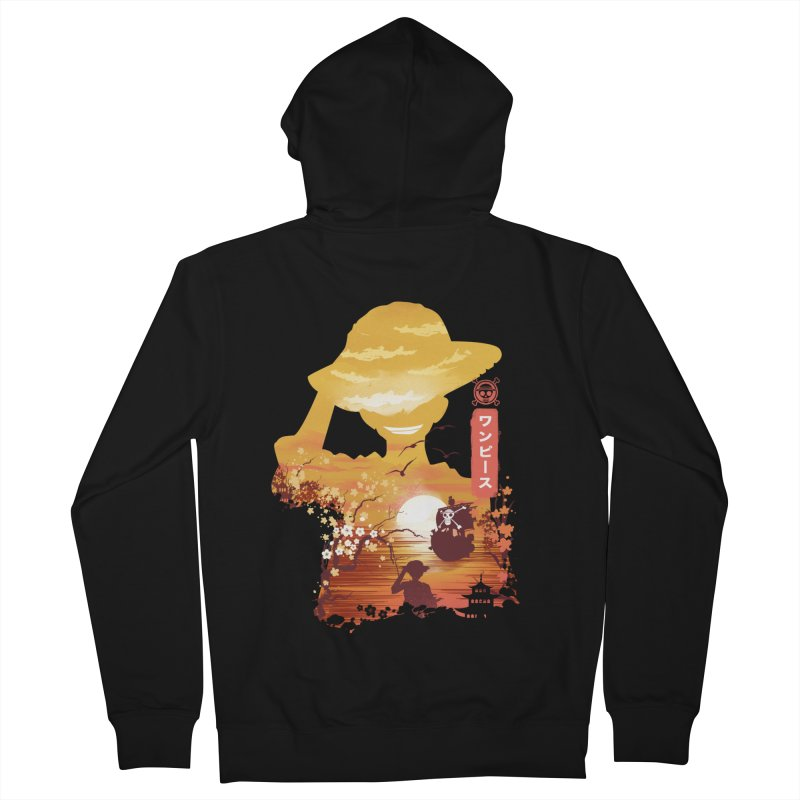 Ukiyo e King of the Pirates Men's French Terry Zip-Up Hoody by dandingeroz's Artist Shop