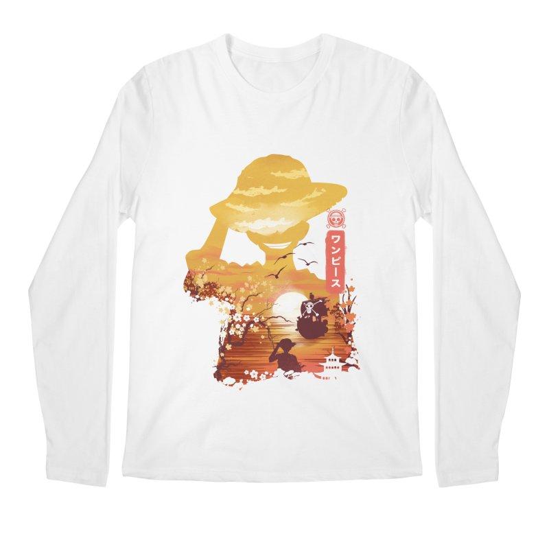 Ukiyo e King of the Pirates Men's Regular Longsleeve T-Shirt by dandingeroz's Artist Shop