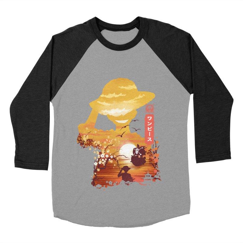 Ukiyo e King of the Pirates Women's Baseball Triblend Longsleeve T-Shirt by dandingeroz's Artist Shop